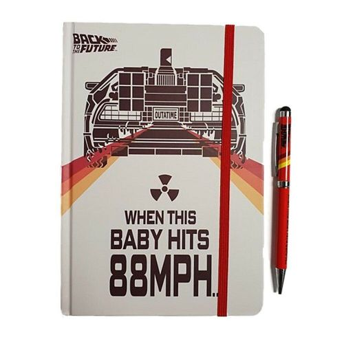 Back To The Future DeLorean A5 Notebook and Pen Set